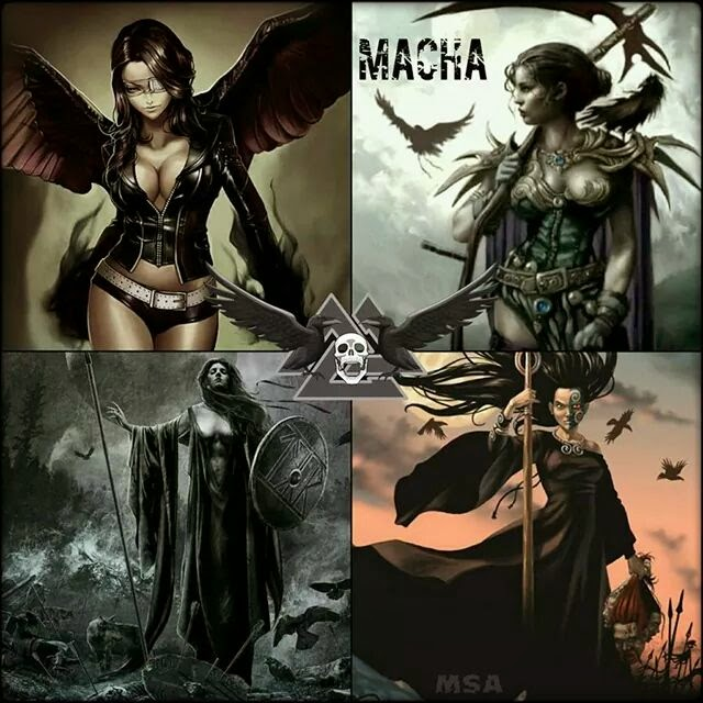 Macha (Irish pronunciation: [ˈmaxə]) is a goddess of ancient Ireland, associated with war, horses, sovereignty, and the sites of Armagh and Eamhain Mhacha in County Armagh, which are named after her.