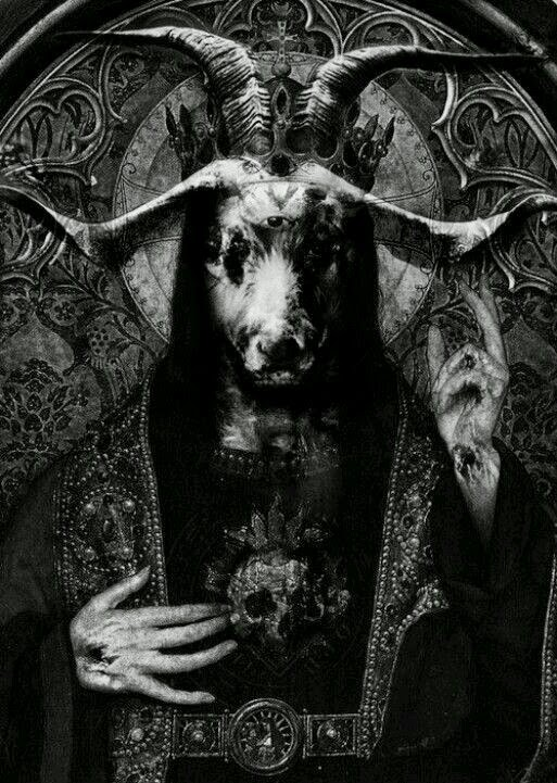 Baphomet/Moloch. I think that more people than just Muhammad  the false prophet have dealt with this devil/demon including Solomon and/or Knights Templar, Illuminati, and Hitler. Also infiltrated   of the church